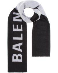 Balenciaga Wool Scarf - Black