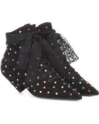 Saint Laurent - Blaze 45 Suede Ankle Boots - Lyst