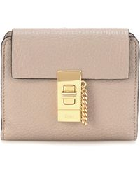 Chloé - Drew Square Leather Wallet - Lyst