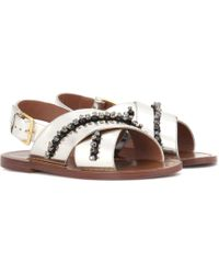Marni | Leather Slip-on Sandals | Lyst