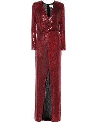 Galvan London - Vera Sequined Silk Gown - Lyst