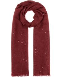 Brunello Cucinelli - Cashmere And Silk Scarf - Lyst