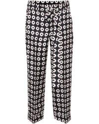 Max Mara - Egidio Printed Silk Pants - Lyst