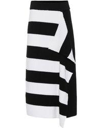 Tibi - Striped Merino Wool Skirt - Lyst