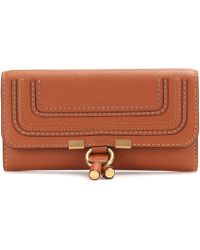 Chloé - Marcie Flap-over Leather Wallet - Lyst