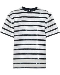 Polo Ralph Lauren - Striped Sequined T-shirt - Lyst