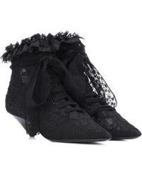 Saint Laurent - Blaze 45 Lace Ankle Boots - Lyst