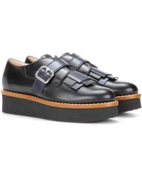 Tod's Gommino platform leather shoes E0Sx8B3