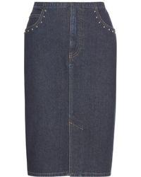 Sonia Rykiel - Embellished Denim Skirt - Lyst