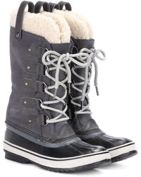 Sorel - Joan Of Arctic Shearling-trimmed Suede And Rubber Boots - Lyst