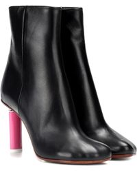 Vetements - Ankle Boots aus Leder - Lyst