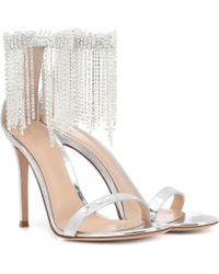 Gianvito Rossi - Jasmine 105 Metallic Leather Sandals - Lyst