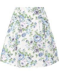 Zimmermann - Floral Linen Skirt - Lyst