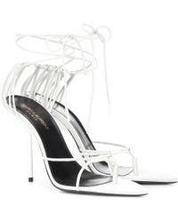 Saint Laurent - Inez Leather Sandals - Lyst