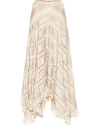 Zimmermann - Unbridled Satin And Lace Skirt - Lyst
