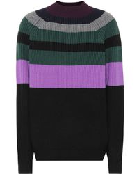 Victoria, Victoria Beckham - Pull en laine rayée - Lyst