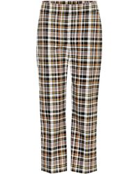 Burberry - Actonby Cropped Plaid Trousers - Lyst