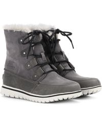 Sorel - Cosy Joan Suede Ankle Boots - Lyst