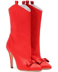 Alessandra Rich - Satin Ankle Boots - Lyst