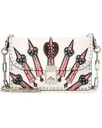 Valentino - Loveblade Leather Crossbody Bag - Lyst