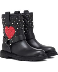 Valentino - Leather Ankle Boots - Lyst