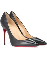Christian Louboutin - Pigalle 100 Black Leather Pump - Lyst