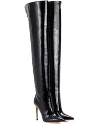 Gianvito Rossi Rennes Leather Over-the-knee Boots - Black