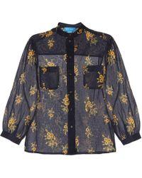 M.i.h Jeans - Camisa Lili de algodón floral - Lyst