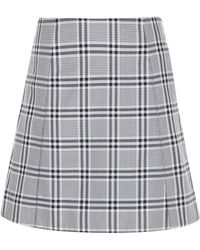 WOOD WOOD - Stella Check Cotton Miniskirt - Lyst