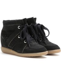 Isabel Marant - Bobby Suede Wedge Trainers - Lyst
