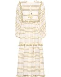 Zimmermann - Striped Cotton Dress - Lyst