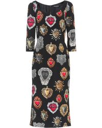 Dolce & Gabbana - Sacred Heart Print Pencil Dress - Lyst
