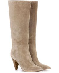 Gianvito Rossi - Kelsey Suede Boots - Lyst