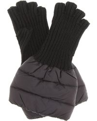 Moncler - Quilted Wool-trim Gloves - Lyst