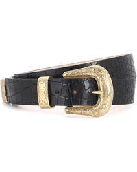 Balmain - Embossed Leather Belt - Lyst