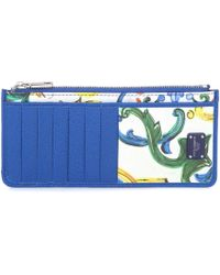 Dolce & Gabbana - Printed Leather Zipped Card Holder - Lyst