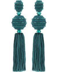 Oscar de la Renta - Tasselled Clip-on Earrings - Lyst