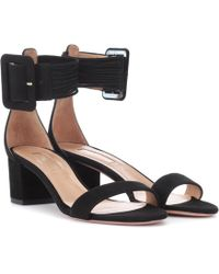 Aquazzura - Casablanca 50 Suede Sandals - Lyst