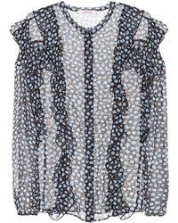 31deda97b09866 Dorothee Schumacher - Poetic Rebel Printed Silk Blouse - Lyst