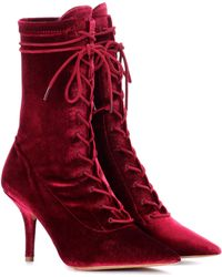 91e7886ad7222 Lyst - Yeezy Season 5 Ankle Boots W  Tags Burgundy in Red