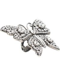 Gucci - Crystal Butterfly Ring - Lyst