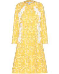 Oscar de la Renta - Embellished Cotton-blend Coat - Lyst