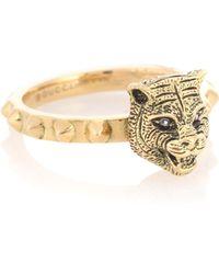 Gucci - Le Marché Des Merveilles 18kt Gold Ring With Diamonds - Lyst