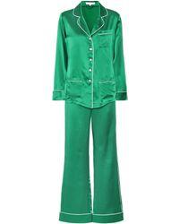 Olivia Von Halle - Coco Silk Pyjama Set - Lyst