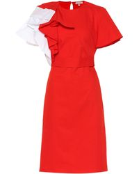 Delpozo - Ruffled Cotton Dress - Lyst