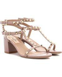 Valentino - Garavani Rockstud Leather Sandals - Lyst
