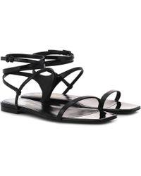 Saint Laurent - Leather Sandals - Lyst