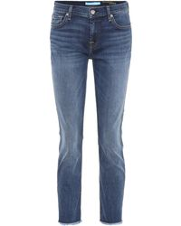 7 For All Mankind - Roxanne Mid-rise Skinny Jeans - Lyst