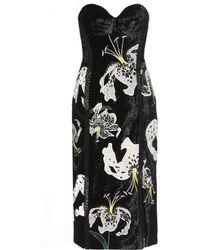 Erdem - Rebecca Embroidered Velvet Dress - Lyst
