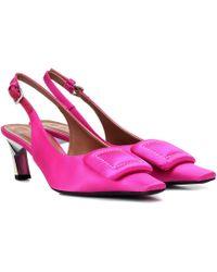 Marni - Satin Slingback Court Shoes - Lyst